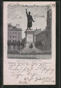 AK Budapest, Petöfi szobor - Petöfi Monument