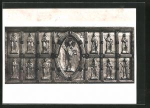 Foto-AK Deutscher Kunstverlag, Nr. 2: Grosskomburg, Stiftskirche St. Nikolaus, Antependium des Hochaltars