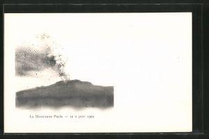 AK Saint-Pierre, Vulkan-Ausbruch des Mont-Pelé am 2.6.1902