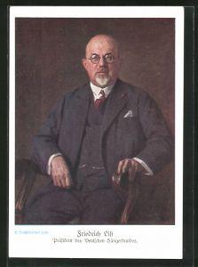 AK Portrait Friedrich List, Präsident des Deutschen Sängerbundes