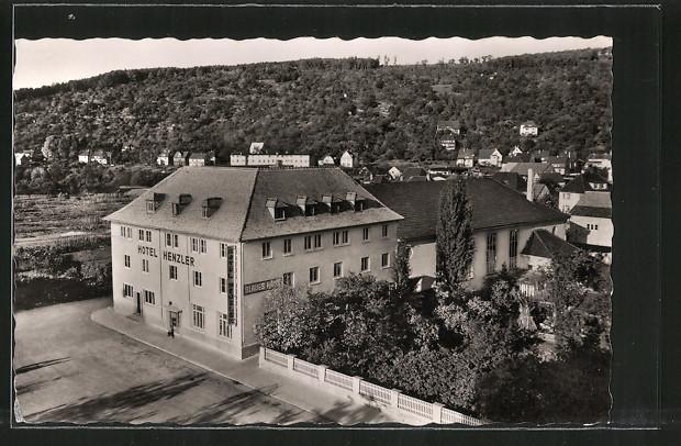 AK Plochingen, Hotel Henzler von J. Henzler