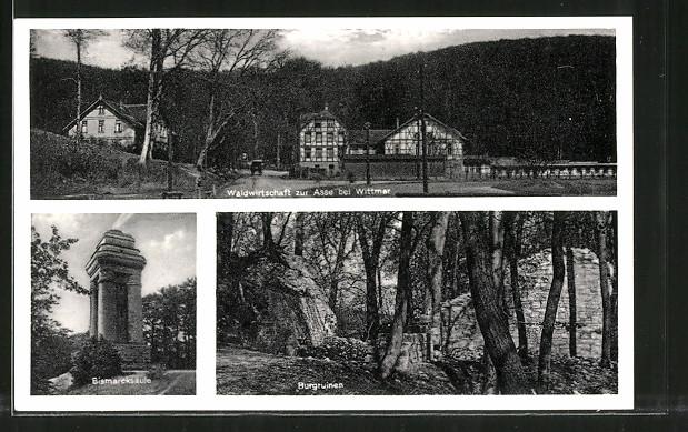AK Wittmar, Waldwirtschaft Zur Asse, Bismarcksäule