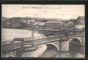 AK Witzenhausen, Blick auf die Kolonialschule, Brücke