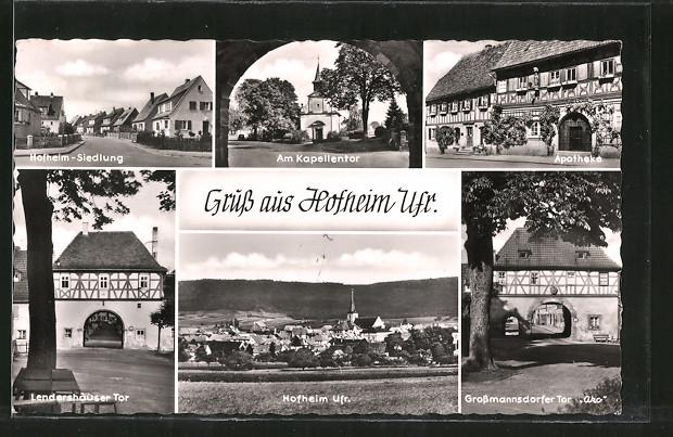 AK Hofheim, Grossmannsdorfer Tor, Apotheke, Hofheim-Siedlung