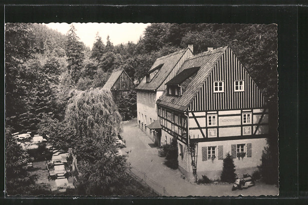 AK Kleinhennersdorf, Waldidyll Liethenmühle