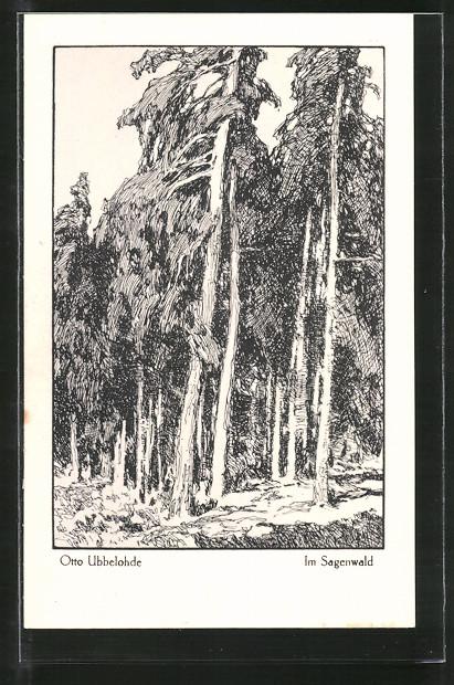 Künstler-AK Otto Ubbelohde: Im Sagenwald