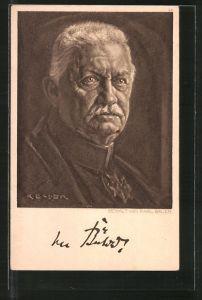 Künstler-AK General von Bülow, Portrait
