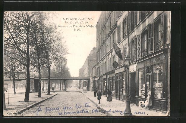 AK La Plaine-St-Denis, Avenue du Président Wilson