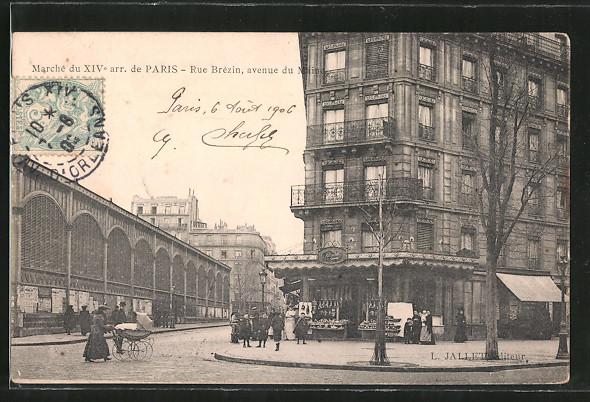 Ak paris rue br zin avenue du maine nr 7112743 for Garage avenue du maine