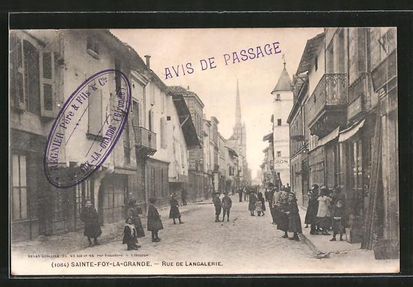 AK Sainte-Foy-la-Grande, Rue de Langalerie