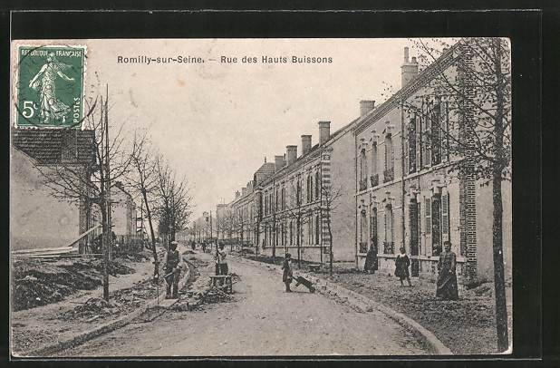 AK Romilly-sur-Seine, Rue des Hauts Buissons