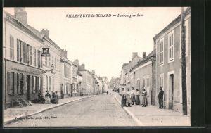 AK Villeneuve-la-Guyard, Faubourg de Sens