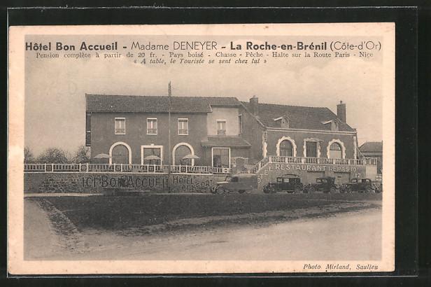 AK La Roche-en-Brénil, Hôtel Bon Accueil