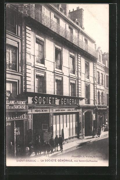 AK Saint-Brieuc, La Sociéte Générale, Rue Saint Guillaume
