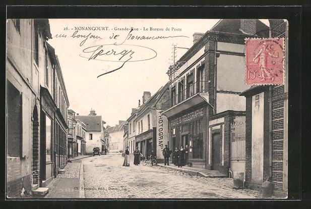 AK Nonancourt, Grande Rue, Le Bureau de Poste