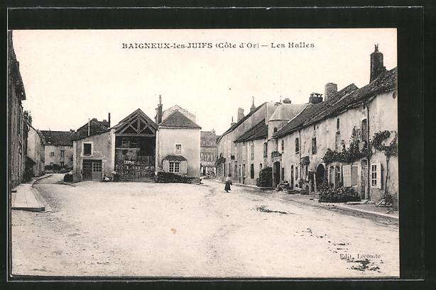 AK Baigneux-les-Juifs, Les Halles
