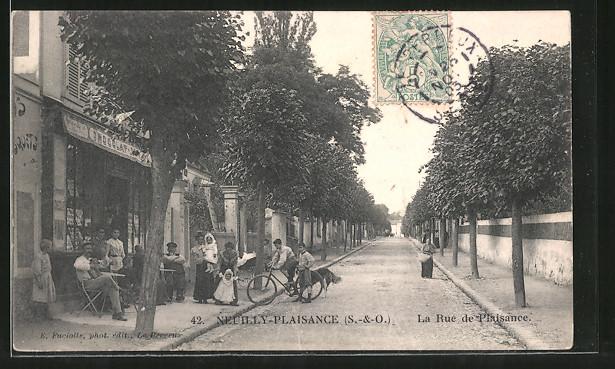 AK Neuilly-Plaisance, La Rue du Plaisance