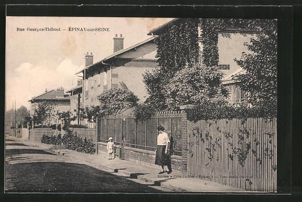 AK Epinay-sur-Seine, Rue Georges-Thibout