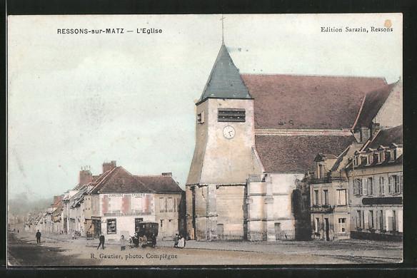 AK Ressons-sur-Matz, L'Eglise