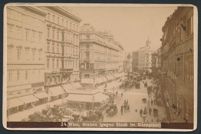Fotografie Fotograf unbekannt, Ansicht Wien, Geschäfte am Graben, Stock im Eisenplatz 0