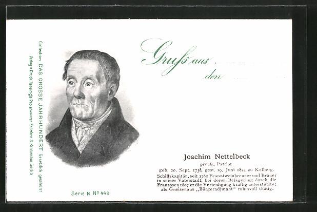 AK Porträt Joachim Nettelbeck, preussischer Patriot der Befreiungskriege