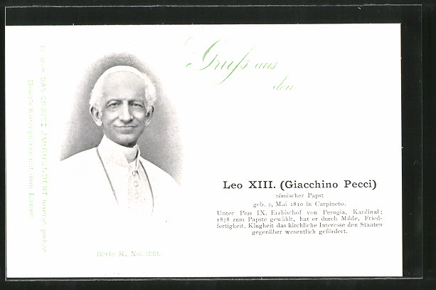 AK Porträt Papst Leo XIII. (Giacchino Pecci)