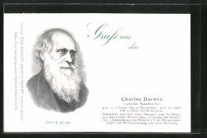 AK Porträt des Naturforschers Charles Darwin