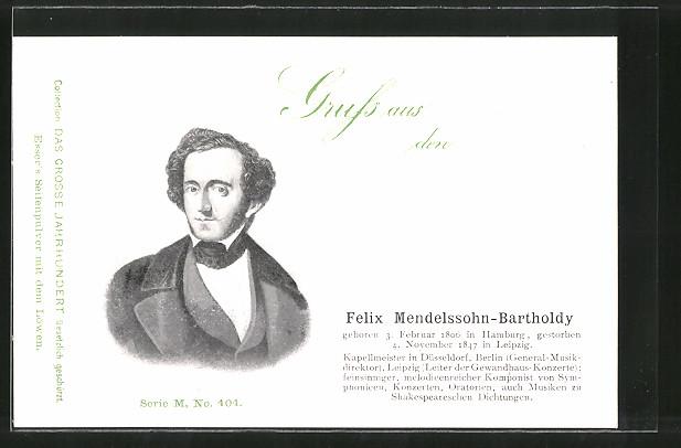 AK Felix Mendelsohn-Bartholdy, Komponist