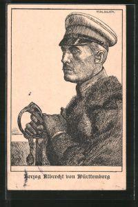 Künstler-AK Herzog Albrecht von Württemberg