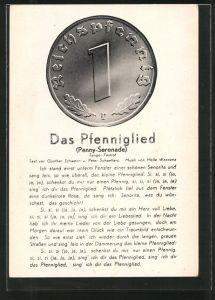 AK Das Pfenniglied, Münze, Geld