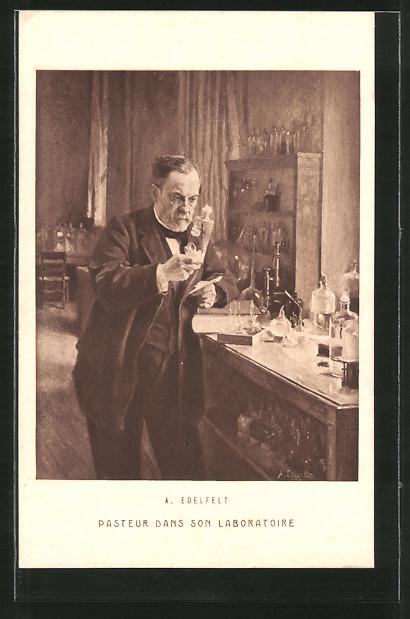 Künstler-AK Pasteur dans son Laboratoire, Portrait des Gelehrten
