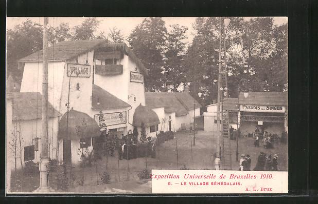 AK Bruxelles, Ausstellung / Exposition Universelle 1910, Village Sénégalais