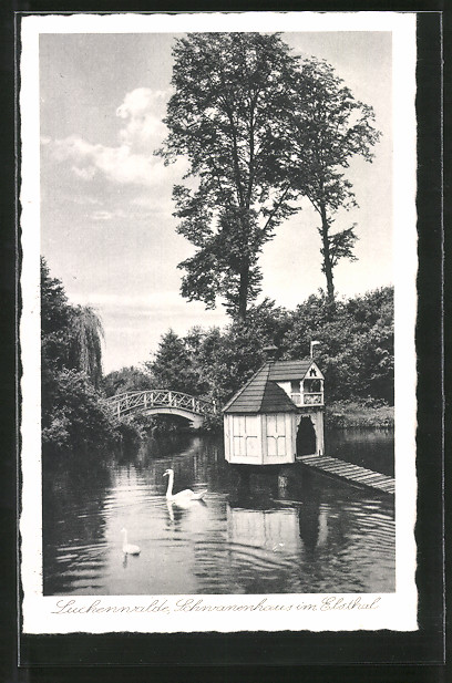 AK Luckenwalde, Schwanenhaus im Elsthal