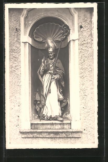 AK St. Wolfgang, Statue des St. Wolfgang