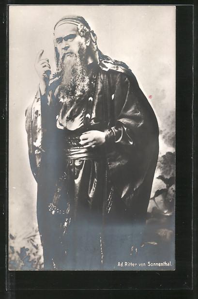 AK Schauspieler Adolf Ritter von Sonnenthal in Filmkostümierung porträtiert