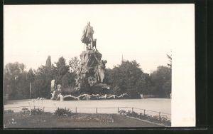 AK Leipzig, Parkpartie am Bismarck-Denkmal