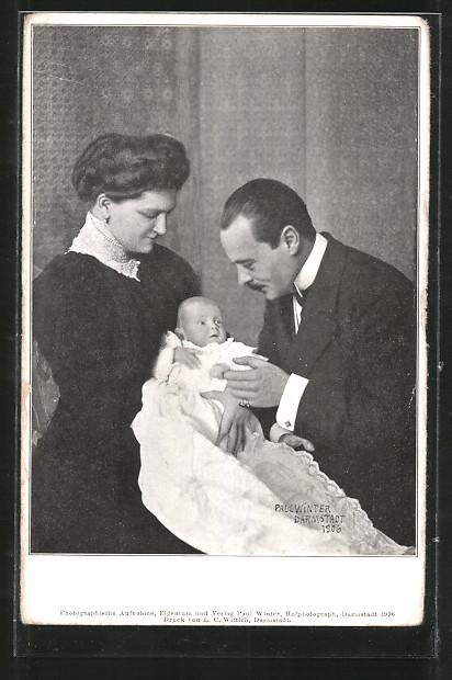 AK Ernst Ludwig, Grossherzog von Hessen-Darmstadt mit Familie