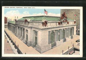 AK New York, NY, Grand Central Terminal, Bahnhof