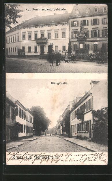 AK Germersheim, Kgl. Kommandantur, Königstrasse
