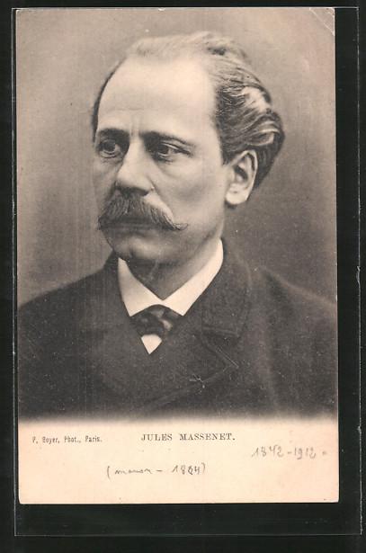AK Porträt Komponist Jules Massenet