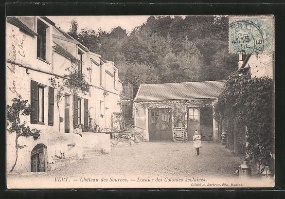 AK Vert, Château des Sources, locaux des colonies scolaires