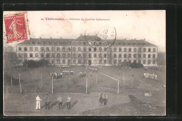 AK Châteaudun, Intérieur du quartier Kellermann