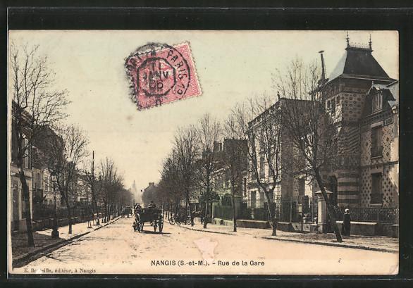 AK Nangis, Rue de la gare