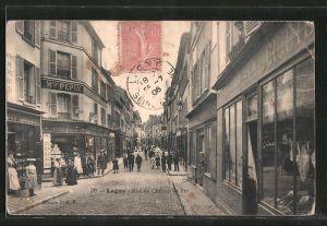 AK Lagny, Rue du Chemin de Fer