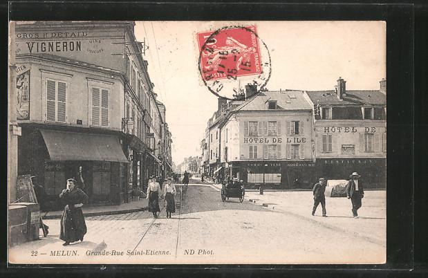 AK Melun, Grande Rue Saint-Etienne