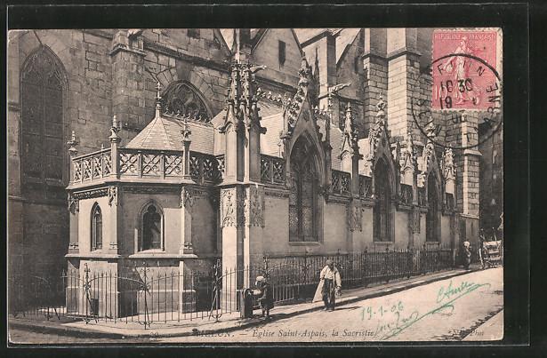 AK Melun, Eglise Saint-Aspais, la Sacristie
