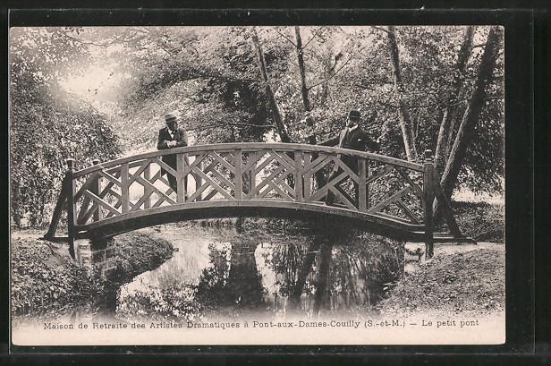 AK Pont-aux-Dames-Couilly, Maison de Retraite de l'Association des Artistes Dramatiques, Le petit pont