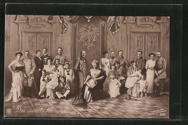 AK Das deutsche Kaiserhaus, Wilhelm II. und Familie