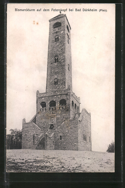 AK Bad Dürkheim, Ansicht vom Bismarckturm auf dem Peterskopf