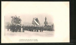 AK Funérailles de Félix Faure, Couronnes des Sénateurs et Députés